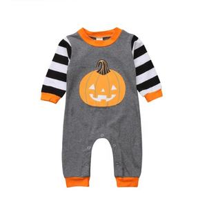 Newborn Baby Rompers Autumn Winter Boys Girls Pumpkin Cotton Clothes Halloween Little Baby Patchwork Jumpsuit Clothes