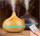 USB Electric Air Diffuser Wood Ultrasonic Air Humidifier Essential Oil Aromatherapy Cool Mist Maker