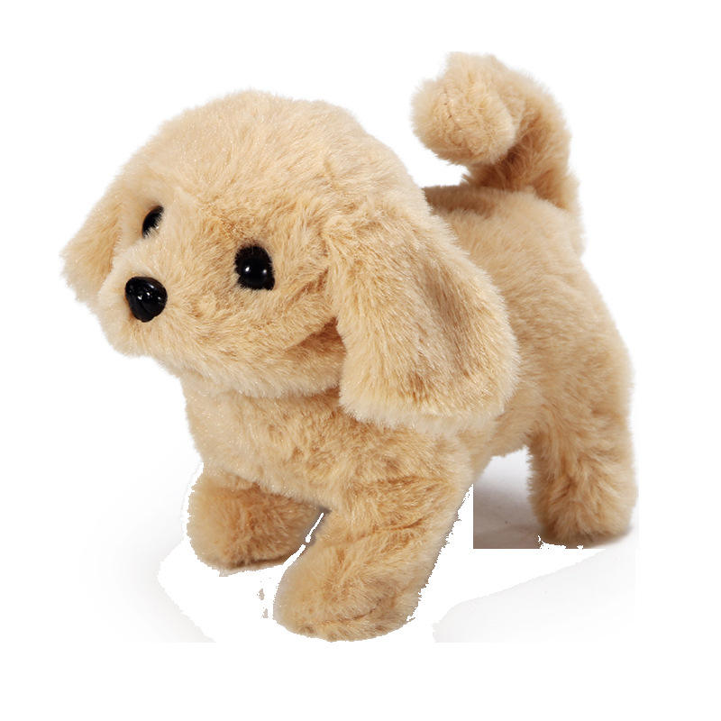 Children's plush toy dog simulation electric pet plush dog toy