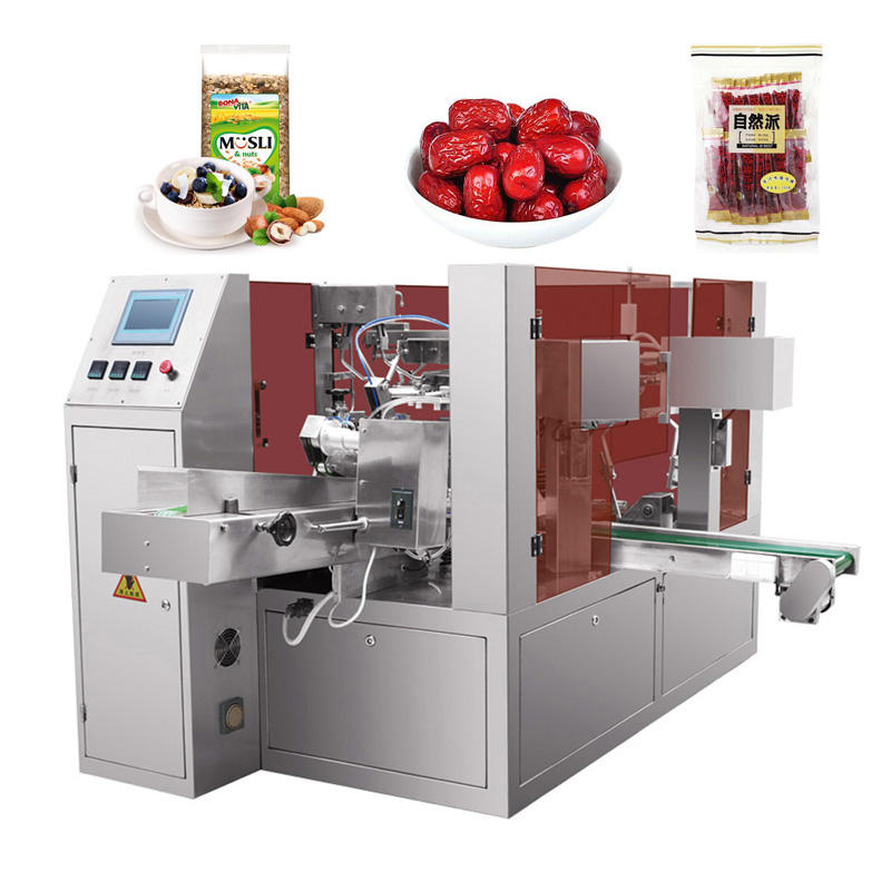 Automatic Pre-made Zipper Bag Packing Machine For Date Dried Dry Fruits