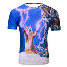 Custom bulk 3d printed t-shirts with high quality sublimated T-shirt prints