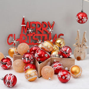 6cm/24pcs Stocked Shiny Color Assorted Christmas Balls 2020 Tree Gift Decoration for Xmas Tree