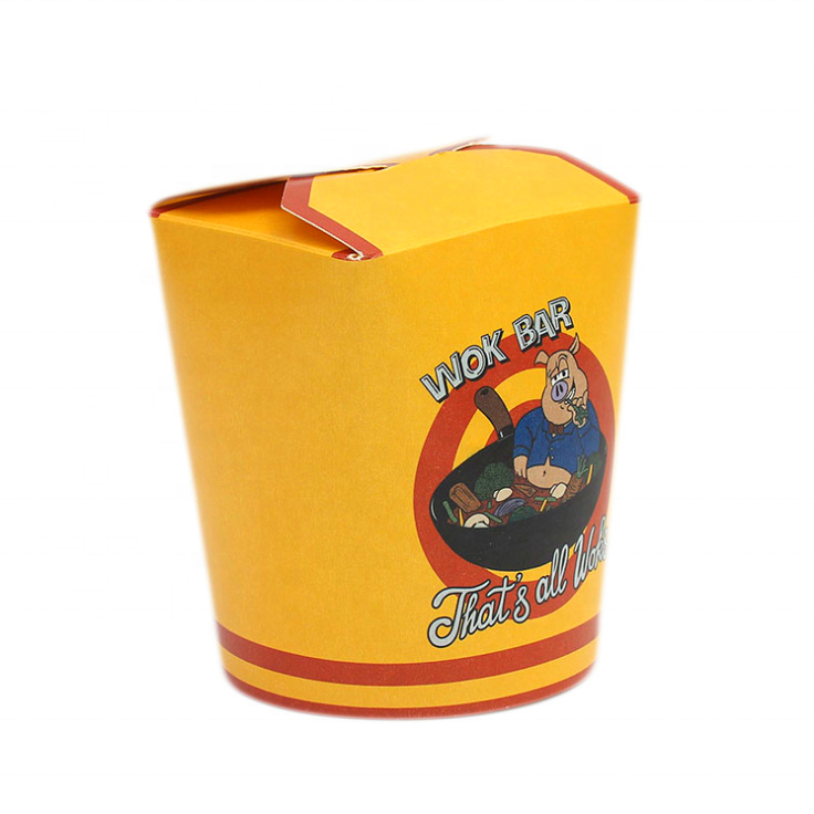 Disposable take away custom food container paper Noodle Pasta Box,printing kebab box