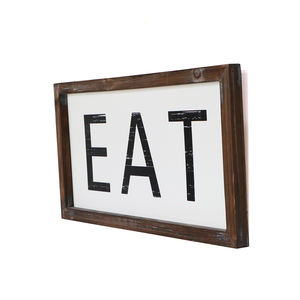 Custom kitchen them EAT decoration wooden frame MDF board wall plaque