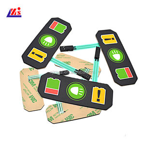 wholesale factory supply diy PET material customized PCB membrane switch panel keypad with LED