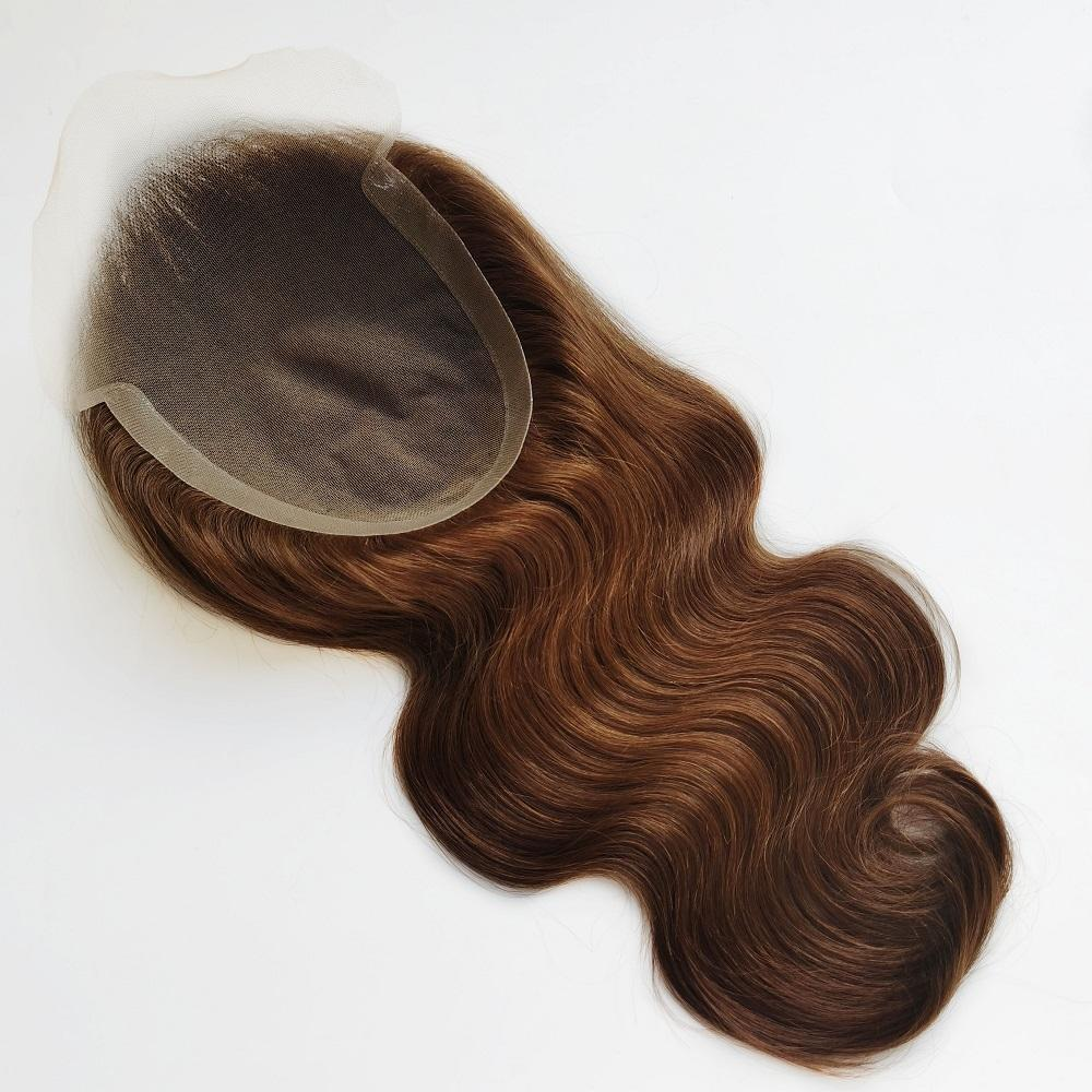 Highest quality Best Wholesale Hair Price Remy Human Hair Double Drawn Natural lace closure topper