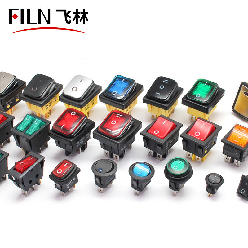 on on 30A250V Heavy Duty 6 pin DPDT IP67 Sealed Waterproof T85 Auto Boat Marine Toggle Rocker Switch with LED 12V 220V 30x22