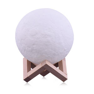 8-24cm Moon Lamp, Warm and Cool White Dimmable Touch Control Led Night Light Bedside Lamp 3D Moon Light