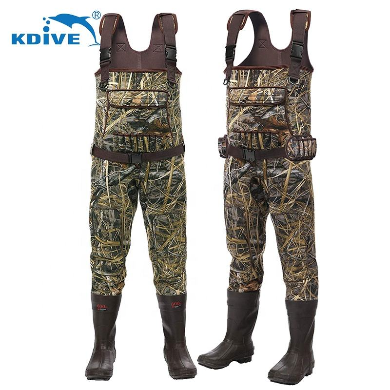 5mm Camouflage Suits Breathable Hunting Neoprene Fishing Waders Image, Wader Hunting Fly Fish Neoprene Waterproof From China