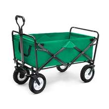 Collapsible adjustable folding wagon 4 wheels folding beach cart for outdoor camping