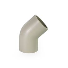 Customized all dimensions 45 degree plastic pph elbow pipe fitting