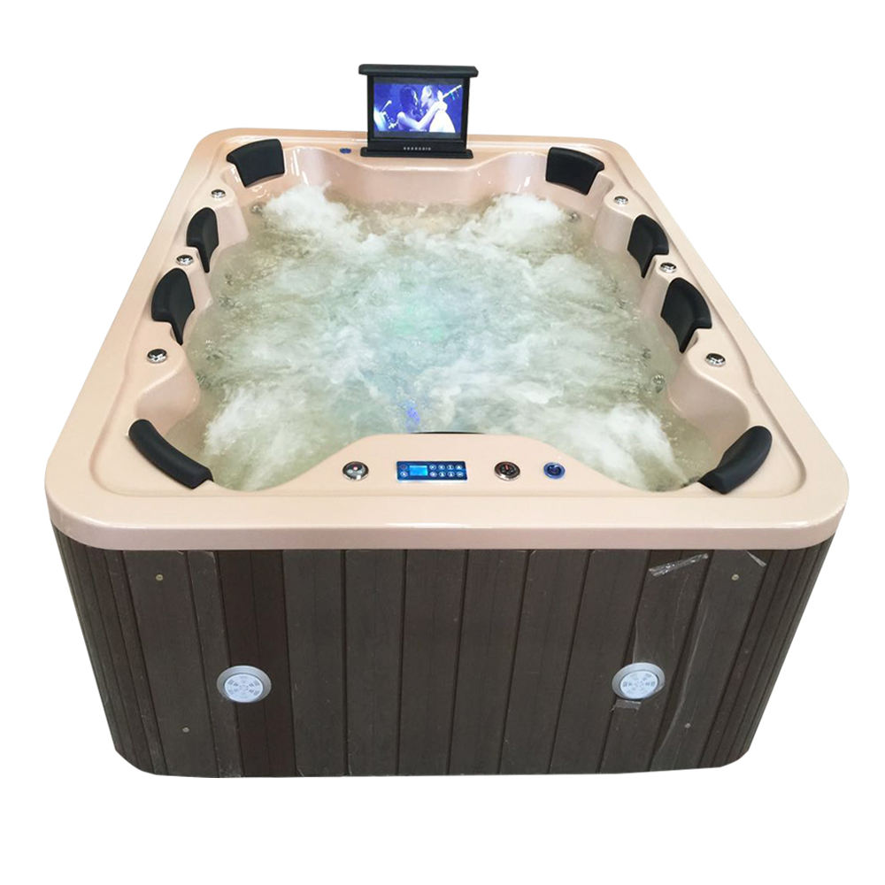 HS-B018G pop-up tv 8 person use outdoor balboa whirlpool hot tubs