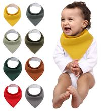Amazon Hot Sale Triangle Feeding Saliva Towel Cotton Baby Bibs
