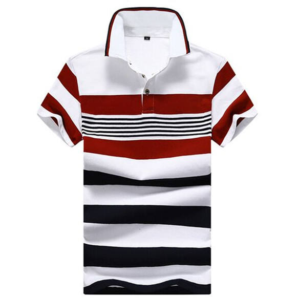 New Model Custom Logo Two Color Polyester Golf Polo T Shirts For Men