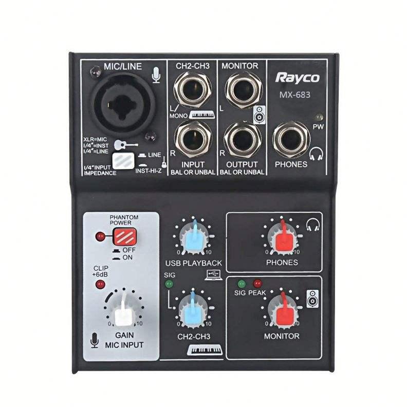Disegno popolare M Mixer Audio Interfaccia Usb Per Piccolo Concerto