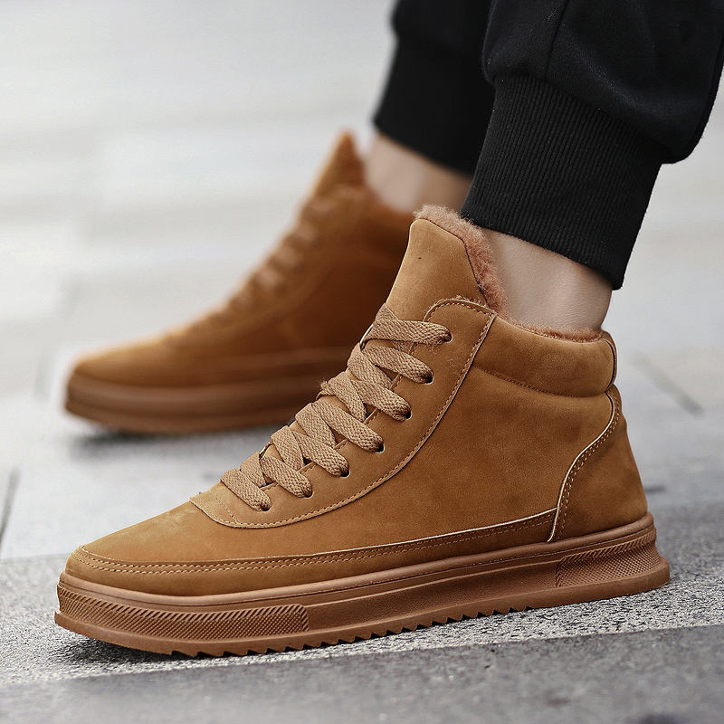 Autumn new style cotton padded shoe sports recreational board shoehigh top boot men