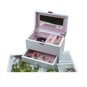 Wholesale Fashion Custom Storage Gift Ring Necklace Piano Wood Box Jewelry Box For Earring
