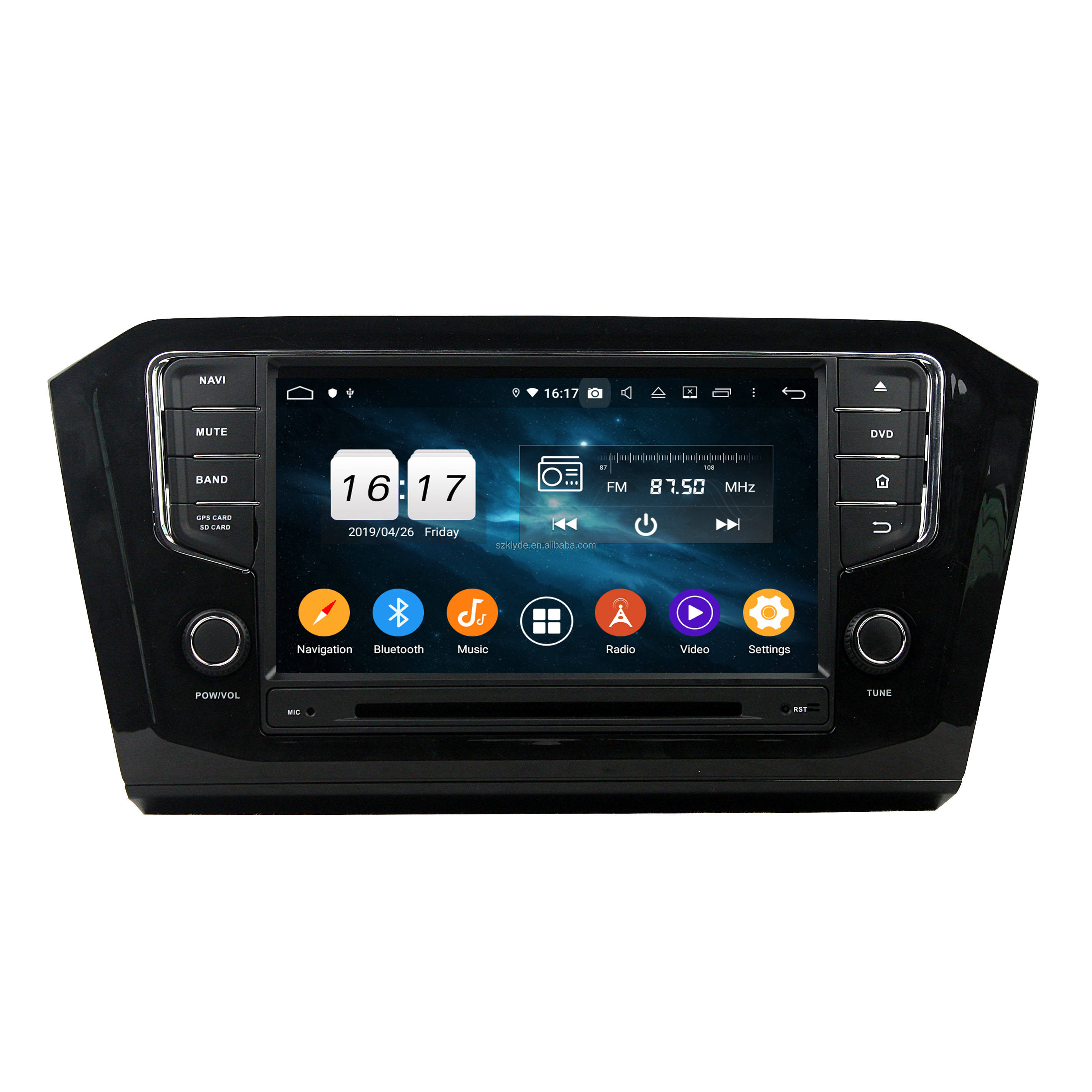 Klyde kd 8110 android 1 din android dash dvd player 4GB RAM GPS Navigation car audio system for PA SSAT 2015