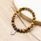 2020 Newest 8mm Natural Yellow Tiger Eye Beaded Bracelet Palm Charm Bracelet for Women