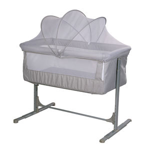 Hot sell metal mosquito net attached to bed baby bed portable born baby cots cribs