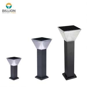Guzhen factory price outdoor italian 15w bollard post lights standing solar garden lamp