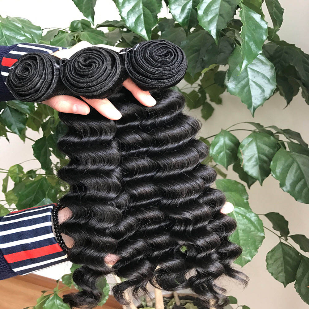 12a raw 100% virgin unprocessed cambodian hair bundles with frontal