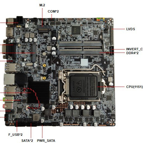 LGA1151 H310 17*17cm Embedded Industrielle <span class=keywords><strong>Motherboard</strong></span> für 9th Generation Prozessor