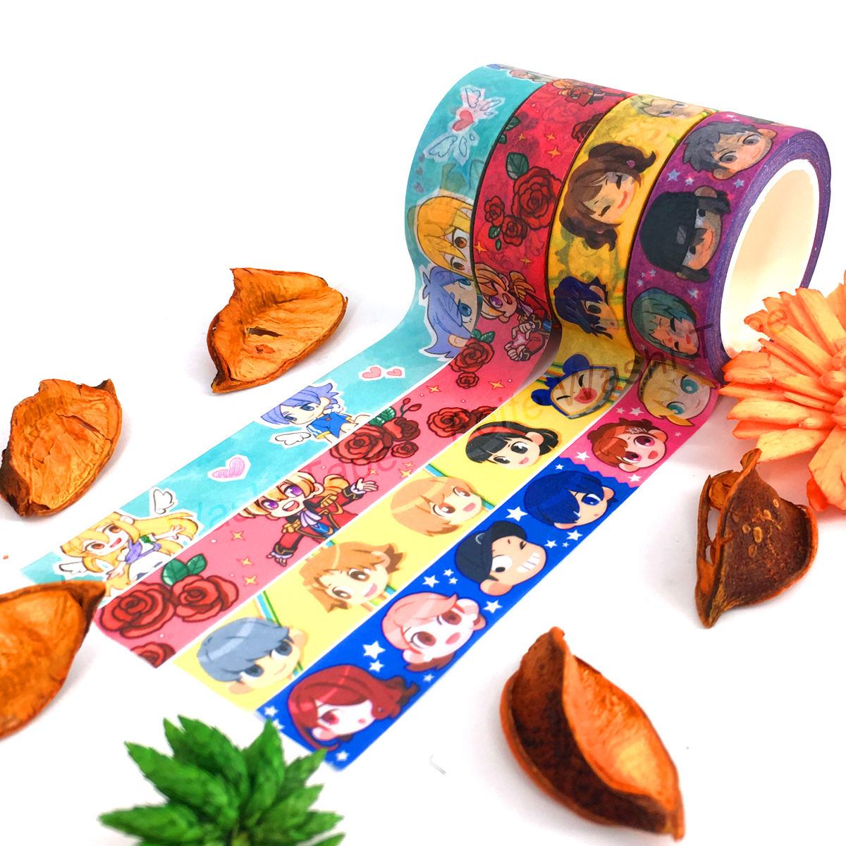 Custom Different Colored Designs Craft Foil Japanese Washi Tape Supplier with Low Moq