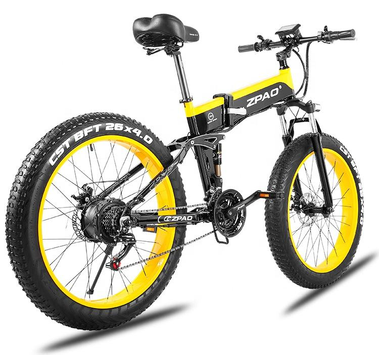 Hot selling 26 inch fat tire electric foldable bike with pedals for US