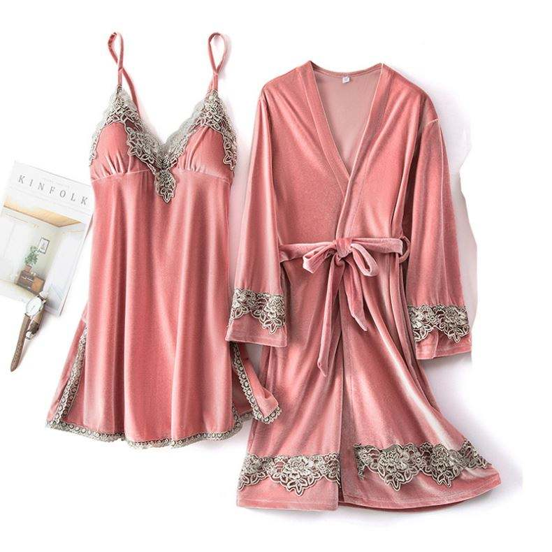 2/5pcs/set Wholesale Women's Silk Satin Five Pieces Pajamas Short Set Women Sexy Lingerie Nighty
