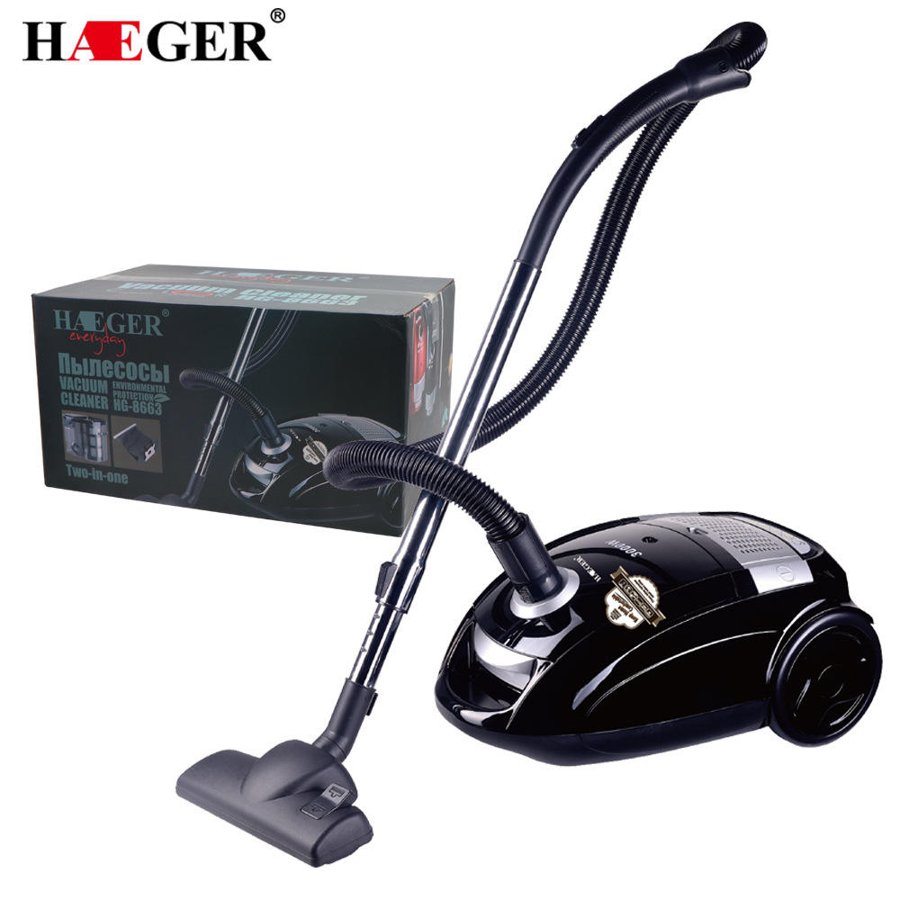 Household vacuum cleaner with HEPA filter