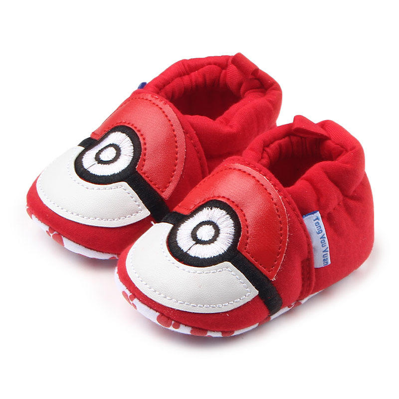New arrival red soft sole infant sho cotton baby booties shoes