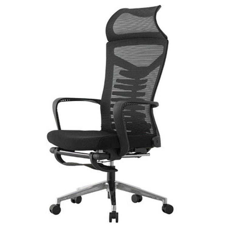 Black mesh high back boss office chair with arms with wheels