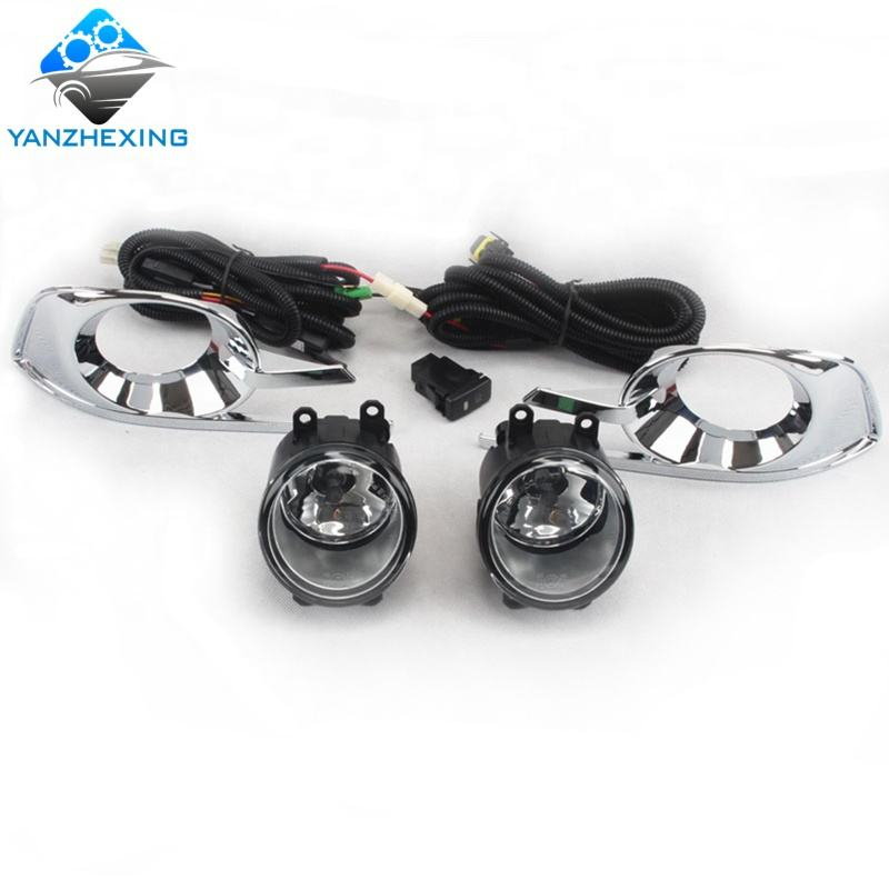 YZX Car Fog lamp Assembly Kit for Toyota Innova 2010-2012 12V 55W Halogen Front Bumper Fog light With Cover Accessories Kit