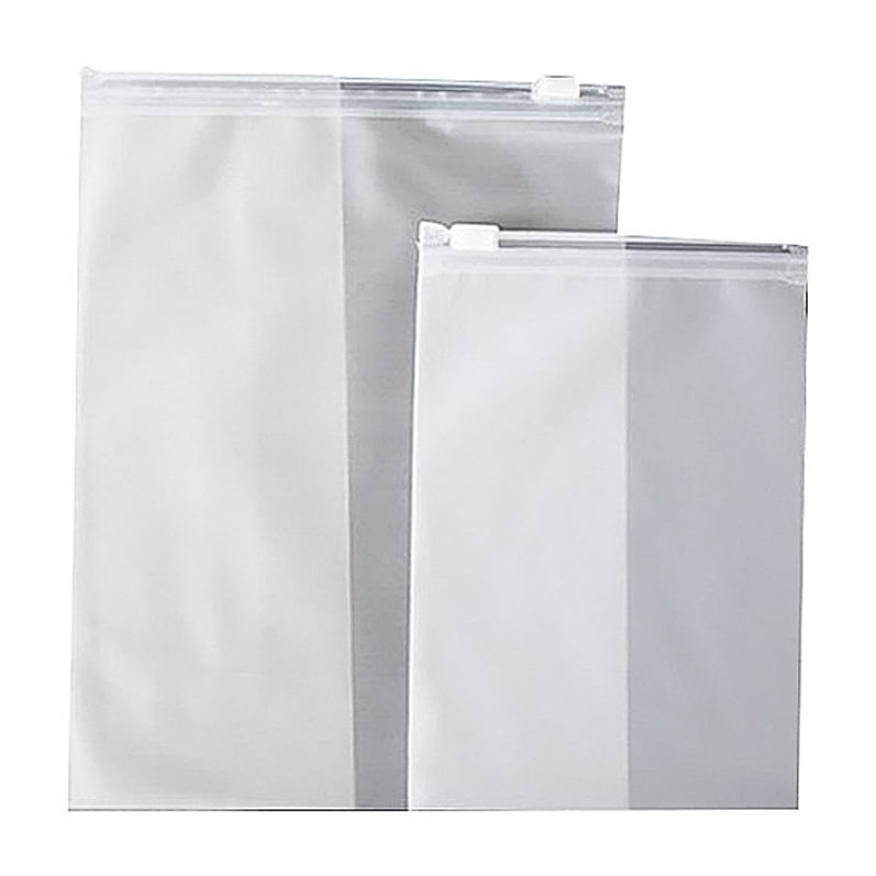 Wholesale reusable clear plastic clothes garment packaging zipper zip lock bag with logo
