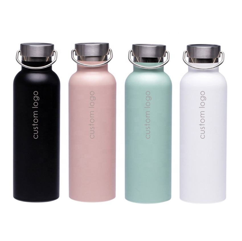 Hot Selling 18/8 Stainless Steel Sports Water Bottle 750ml Insulated Narrow Mouth flask