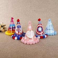Customized party pointy hats Christmas paper kid hats Decorative supplies Christmas hats