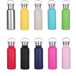 Shop hot sale 2020 outdoor 350ml/500ml/600ml/750ml popular double wall stainless steel vacuum insulated sport water bottle with