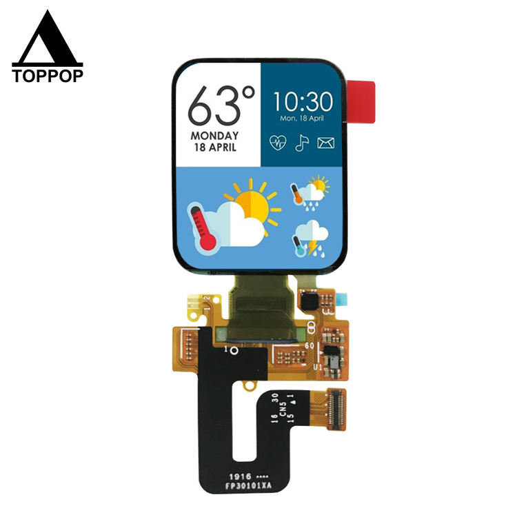 1.78 inch 368*448 Square IPS OLED Screen MIPI SPI AMOLED Display Watch TFT LCD Module with Oncell CTP Capacitive Touch Panel