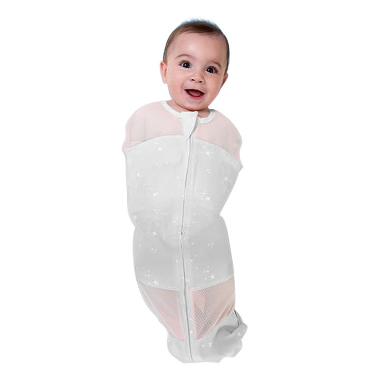 0-6Mouth Newborn Cotton Swaddle Breathable Baby Summer Sleeping Bag
