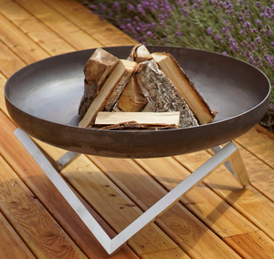 custom stainless steel Portable Fire Bowl outdoor indoor fire pit