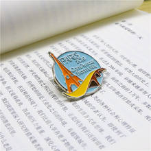Custom Double Gold Plating Hard Enamel Eiffel Tower Paris Pin for Souvenir