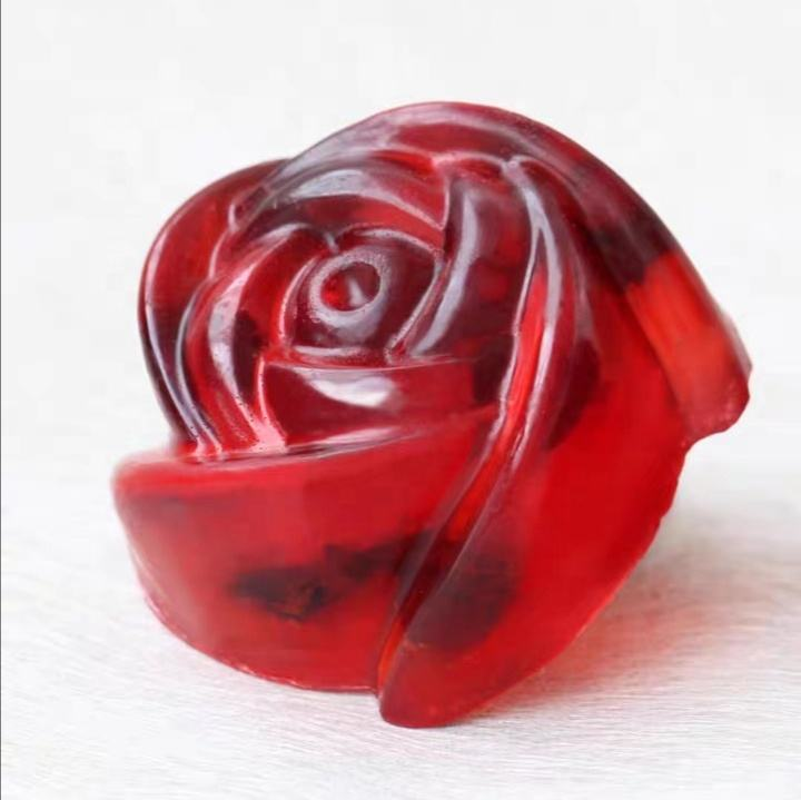 OEM Handmade Virginity Pure Natural Rose Flower Skin Care Virgin Soap