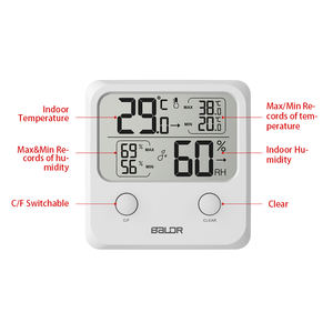 Hygrometer Thermometer Humidity Digital Home Indoor Temperature Humidity Gauge Clock