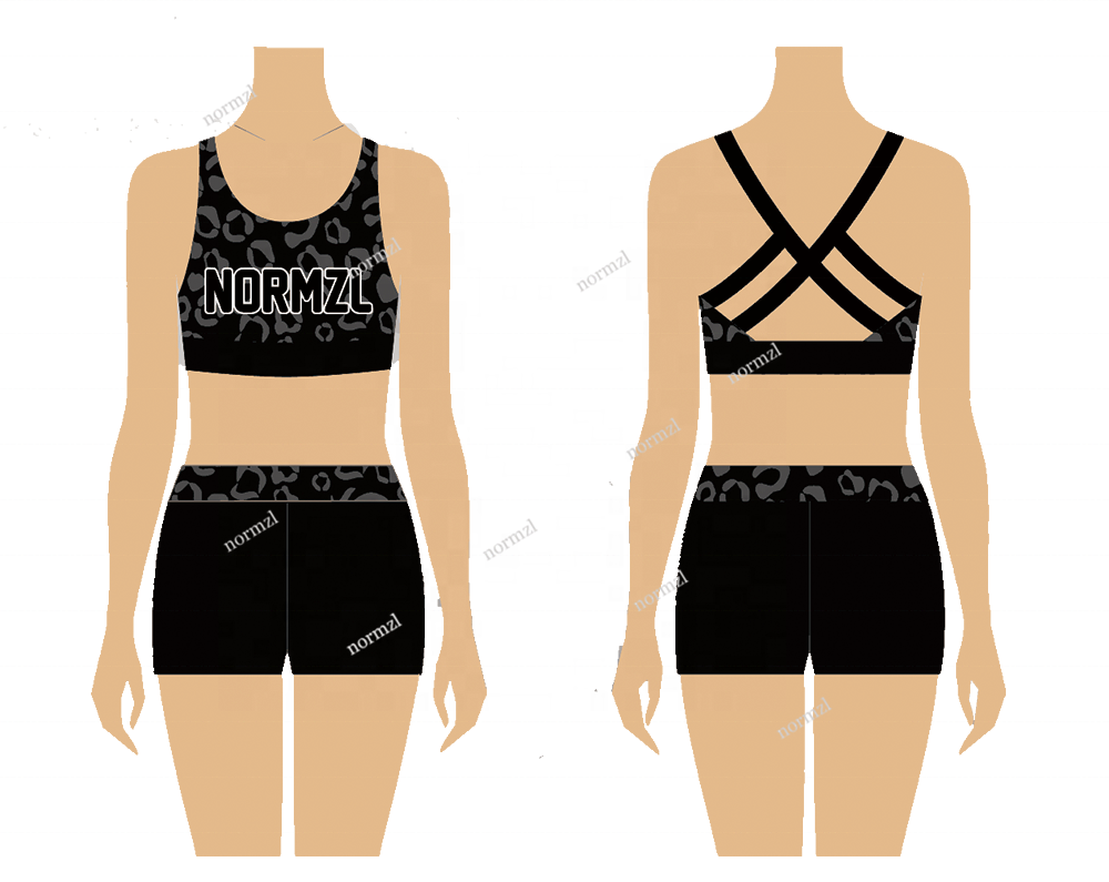 Custom Sublimation Cheer Practice Girls Outfit Dance Costume Cheerleading Uniforms