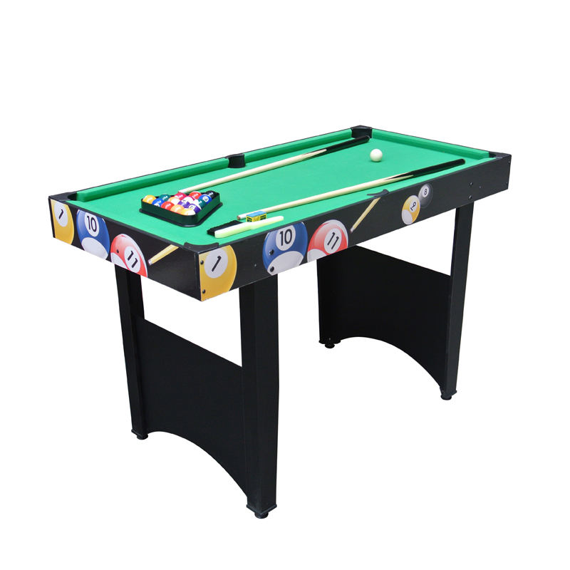 Foldable pool game table with wooden folding legs snooker table game manufacturer
