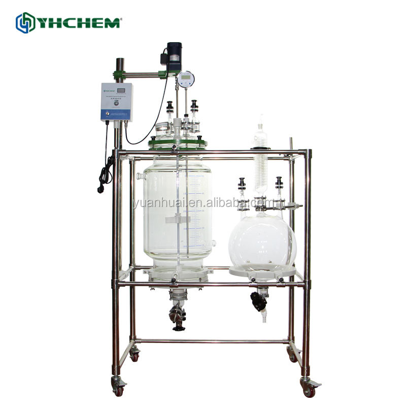 YHCHEM stock available chemical jacket reactor nutsche filter for CBD isolate