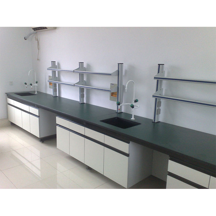 Laboratory Furniture Lab Work Table with Storage Cabinets