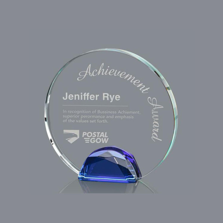 High Quality Crystal Trophy Awards Wholesale Trophies And Plaque For Engraving Round Crystal Shield Awards Atwater C