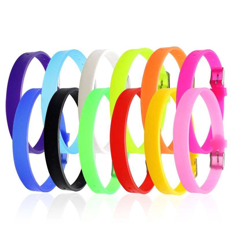 12 Colors 8mm Wide Adjustable Blank Silicone Bracelet,For Slider Beading and Charm,DIY Accessory Jewelry Making